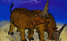 Reconstruction of the 'Giant Unicorn' rhinoceros, Elasmotherium sibiricus