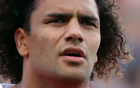 Zane Kapeli prior to Tonga's test against the All Blacks in Hamilton, where the flanker grew up.