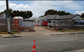 Construction work on Franklyne Road Otara, South Auckland for the Papakāinga and Manaaki building by Mahitahi Kainga Trust.