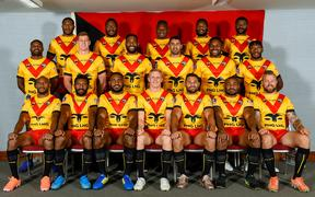 The PNG Kumuls squad to face Fiji in the 2019 Oceania Cup.