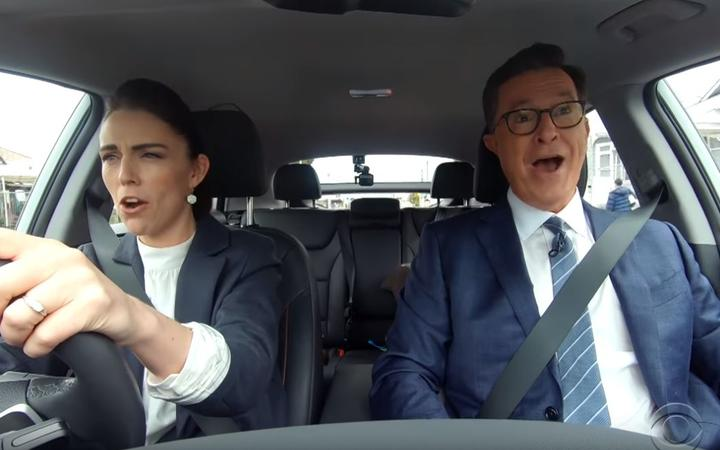Stephen Colbert pranks Lorde and Jacinda Ardern over Kiwi barbecue