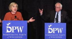 Hillary Clinton and Bernie Sanders both spoke at the Founders Day Gala.
