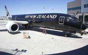 EVERETT, WA - JULY 9: An Air New Zealand 787-9 Dreamliner sits in its stall at the Boeing Delivery Center, July 9, 2014 in Everett, Washington.