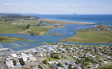 Conceptual image of Ōpōtiki following Harbour Development Project.