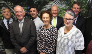 Northland Regional Council members Marty Robinson (left), John Bain, Justin Blaikie (deputy chair), Penny Smart (chair), Jack Craw, Joce Yeoman, Rick Stolwerk, Colin (Toss) Kitchen and Amy Macdonald.
