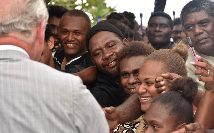 Solomon Islanders turned out in the hundreds to see the Prince of Wales.