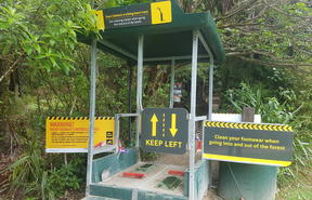 Cleaning station at Waitākere Ranges.