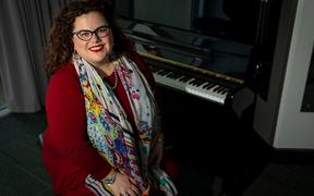 Soprano and lecturer in voice, Dr Morag Atchison. Photo: Elise Manahan