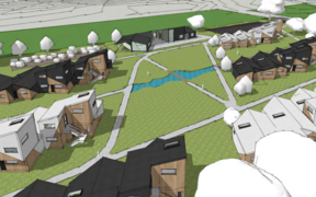 An artist's rendering of what Tuhoe's eco-village may look like. Photo supplied