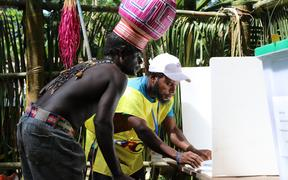 Upe voter in Bougainville Referendum