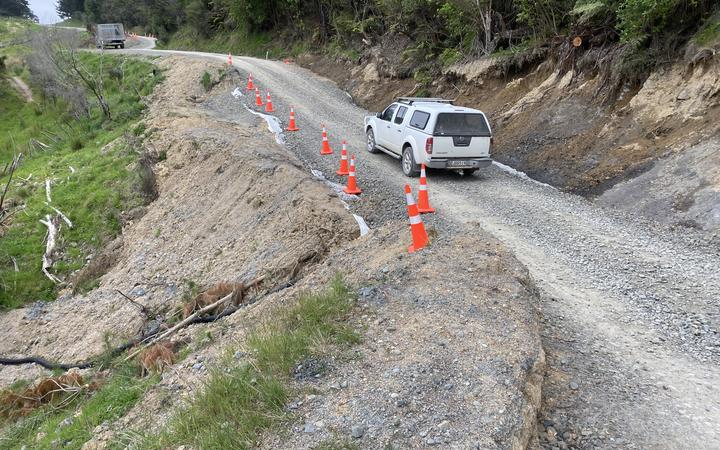 Waikura Road has been closed to heavy vehicles since a slip in August.