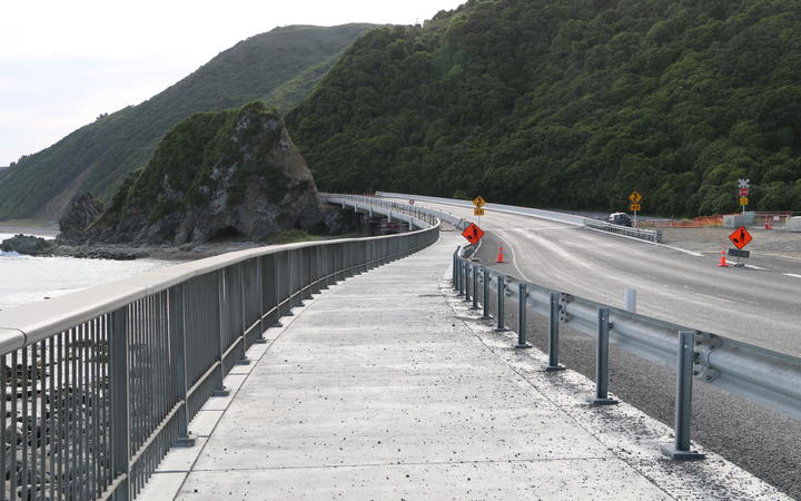 A completed section of the shared user pathway that mana whenua opposed, built along Iron Gate.