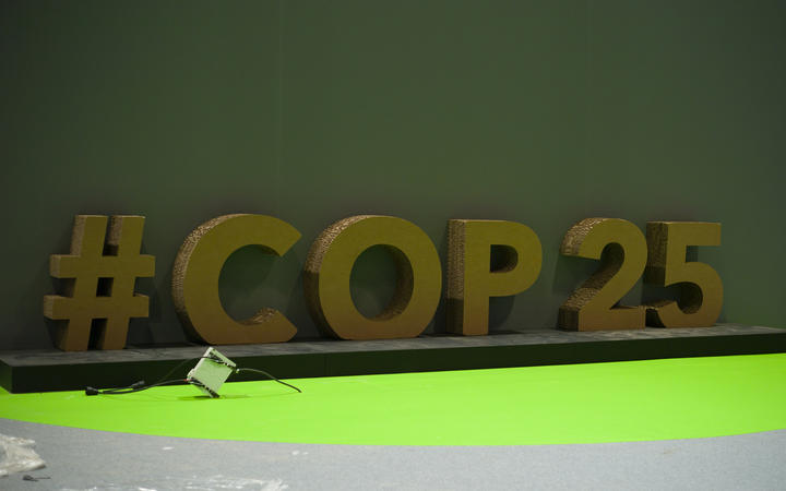 Preparations ahead of the UNFCCC COP25 climate conference on December 1, 2019 in Madrid, Spain.