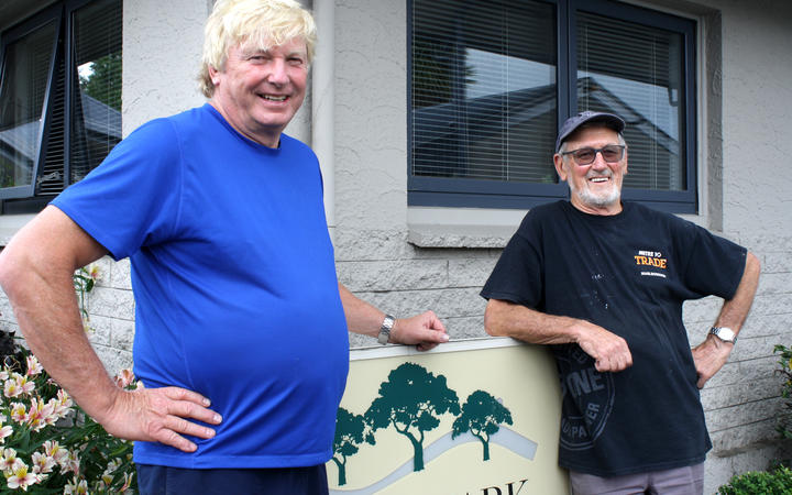 Grove Park Motor Lodge owner Hamish Watson, left, and handyman Pete Scammell are surprised to hear there's human contaminants in Marlborough's drinking water.