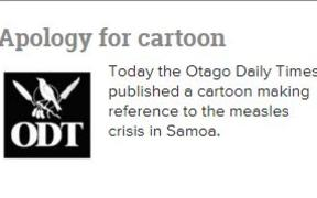 Otago Daily Times apologises for Garrick Tremain cartoon.