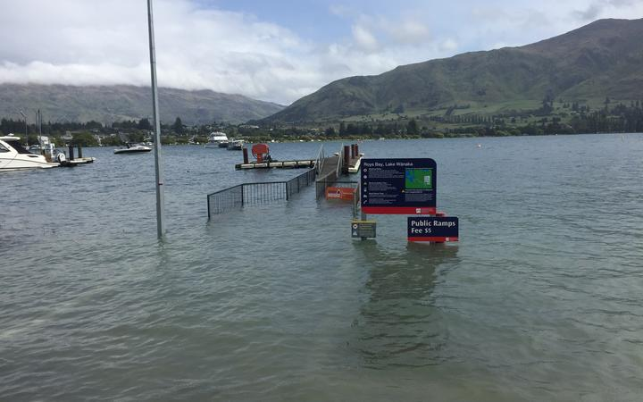 Lake Wanaka is full to the brim. Pictured on 3/12/19
