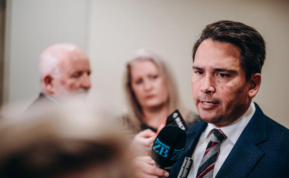 National Party leader Simon Bridges. Photo: RNZ /Dom Thomas