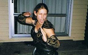 Gabrielle Podvoiskis dressed as Xena at her 21st Birthday party.
