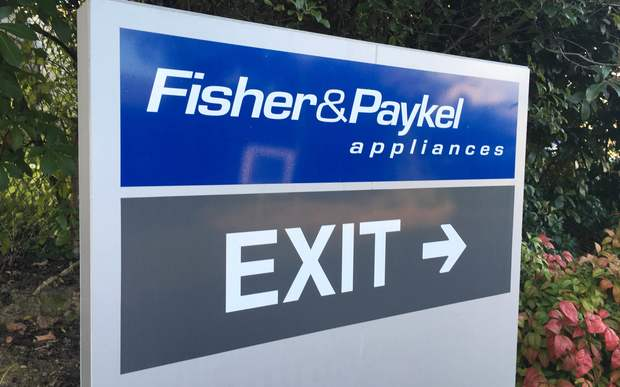 A sign at Fisher & Paykel Appliances' East Tamaki factory, which is set to shut.