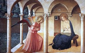 Annunciation by Fra Angelico (San Marco Museum, Florence)