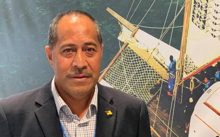 Niue government minister, Dalton Tagelagi.