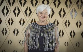 Fibre artist Maureen Lander was taught how to weave by the late Diggeress Te Kanawa.