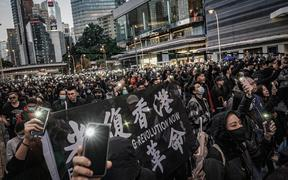 800,000 people join a pro-democracy march in Hong Kong on Dec 8, 2019 .