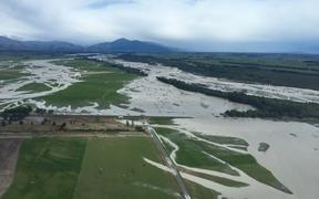 Flooding across paddocks.