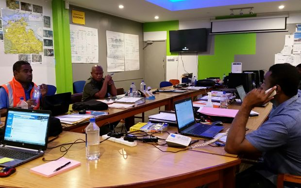 DISMAC officials in the Western Division of Fiji preparing for Zena.