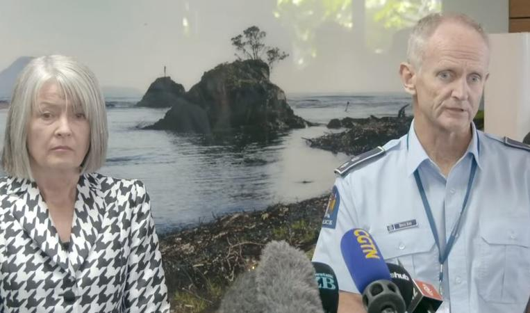 Chief Coroner Judge Deborah Marshall and Acting Assistant Commissioner Bruce Bird address the media about the identification and coronial processes following the Whakaari / White Island eruption.