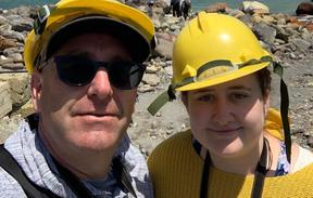 Geoff Hopkins and Lillani Hopkins helped rescue injured tourists from the Whakaari/White Island eruption. Picture taken before the eruption.