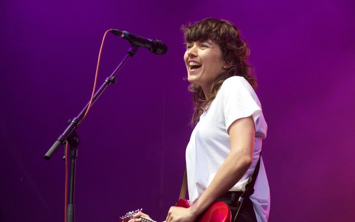 Courtney Barnett performing at Laneway 2019