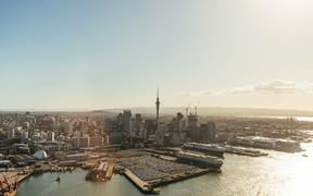 Port of Auckland and Auckland CBD.