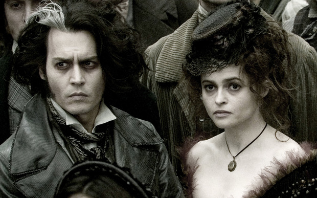 Johnny Depp and Helena Bonham Carter in the film version of Sweeney Todd.