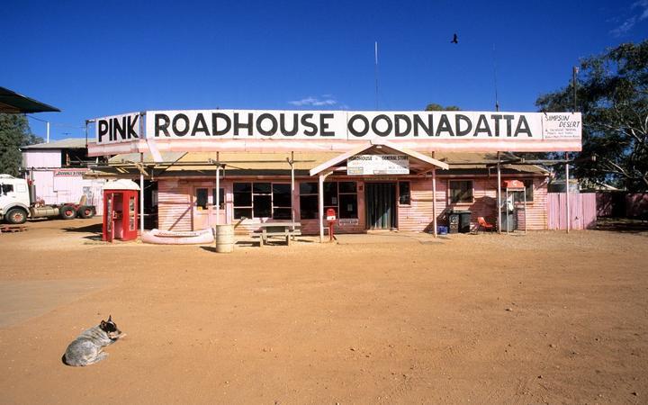 Australia, South Australia, Simpson desert, Oodnadatta, Pink Roadhouse Oodnadatta