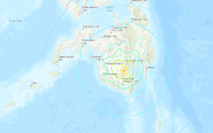 M6.8 natural disaster hits Mindanao, Philippines