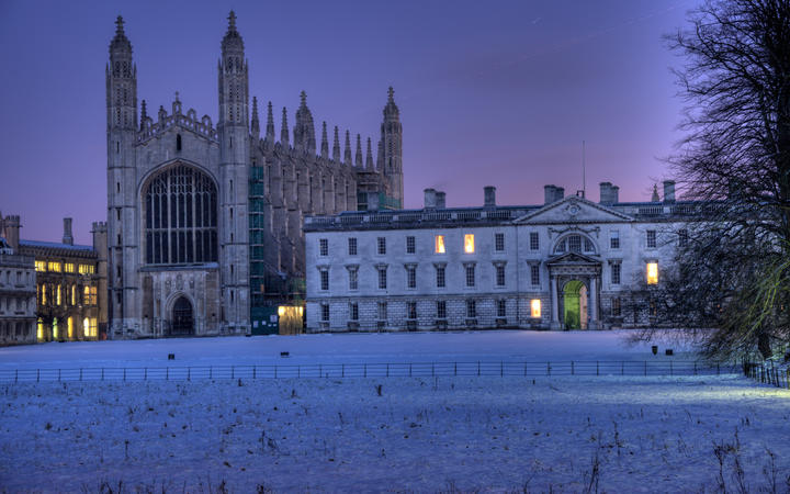 King's College Cambridge at Christmas