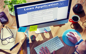 Loan Application Bank Finance Money Businessman Concept