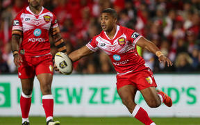 Michael Jennings scored one and set up another try for Tonga.