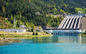 Lake Benmore hydro dam New Zealand
