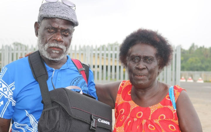 A recent photo of Albert Toro with Elizabeth Tsitseka, who played Lucy's mother in the film 'Tukana - Husait I Asua'.