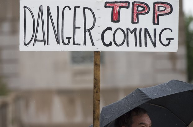 People all over the world have protested against the TPP trade deal.
