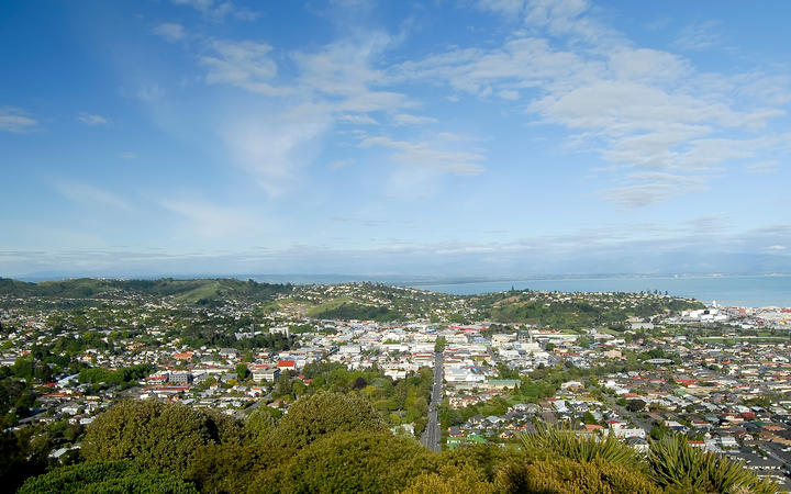 This image shows the town of Nelson, New Zealand
