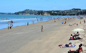 Visitors on Orewa beach on Jan 05 2015. (file image)