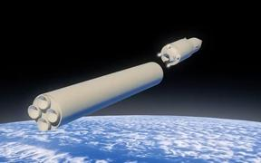 The launch of the Avangard hypersonic glide vehicle. A screenshot from a video provided by the Russian Defense Ministry.