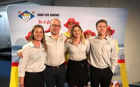 Toni Cranko, third from left, with surf life saving colleagues.