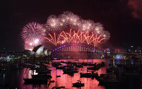 In Sydney, seven tonnes of fireworks were set off in two displays watched by about 1.5 million people.