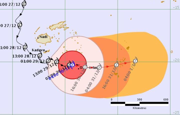 Tropical Cyclone Sarai is forecast to reach Tonga's Vavau islands on Monday or Tuesday this week. 30 December 2019