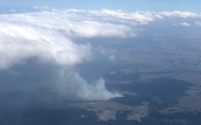 Richard Corney posted this image of the Hawke's Bay fire today to social media.