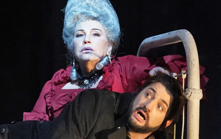 Larissa Diadkova as the Countess and Yusif Eyvazov as Hermann